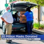 Des masques faciaux gratuits de qualité médicale seront disponibles chez les concessionnaires Ford mardi