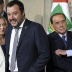 """Gouvernement, Salvini-Meloni pour le vote. Silence de Berlusconi mais """"estime pour Draghi""""."""